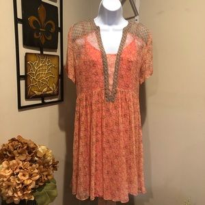 Anthropologie Maeve mini boho floral dress SZ 12.